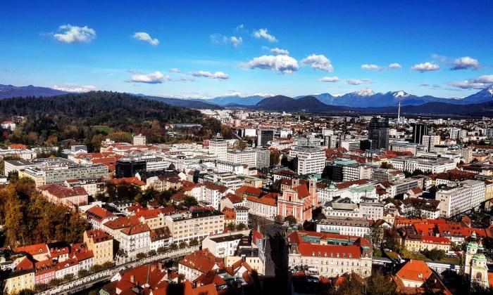 veduta dal castello della città