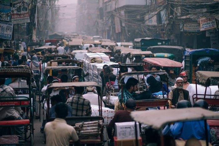 vista del traffico di bombay