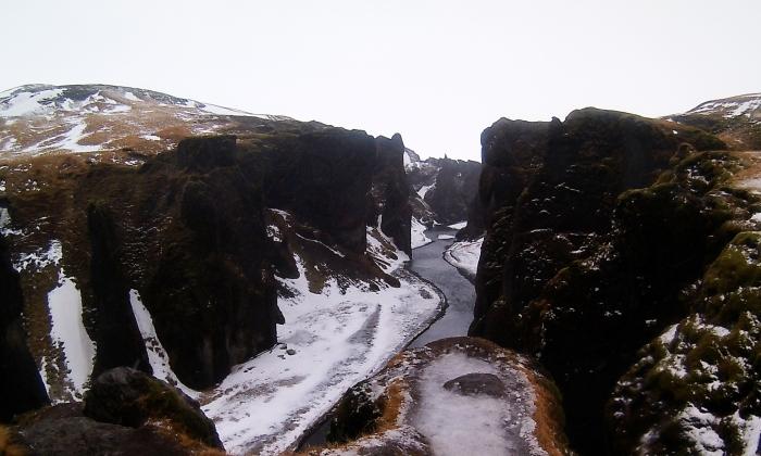 il canyon vicino a vik