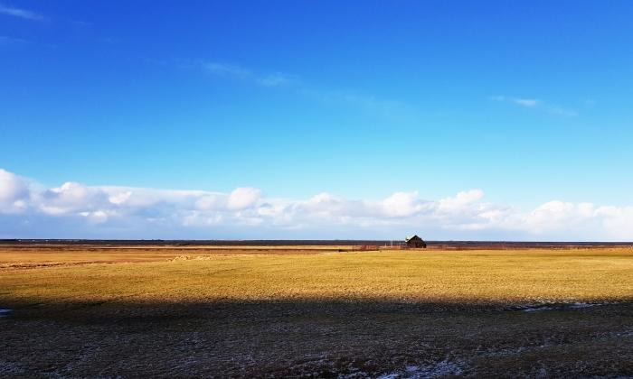 la solitudine delle fattorie sparse nel nulla
