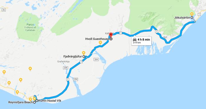 itinerario del giorno 4