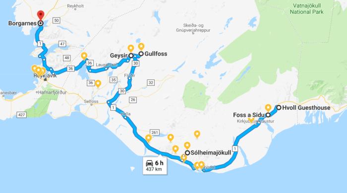 itinerario del giorno 5