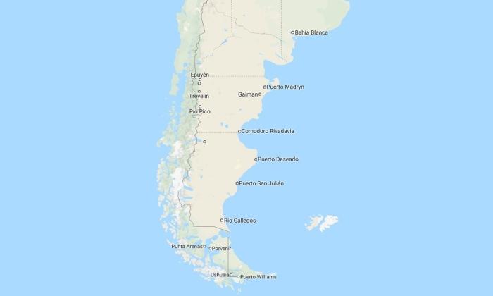 il percorso del viaggio in patagonia
