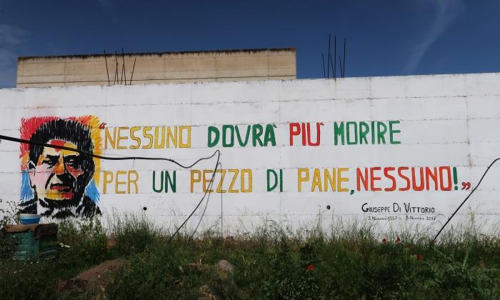 murales presso la cooperativa sociale pietra di scarto